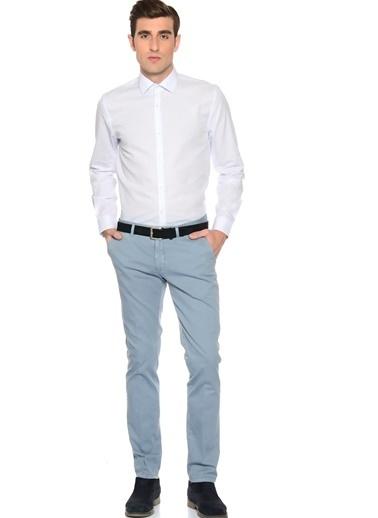 Cotton Bar Uzun Kollu Kareli Gömlek Mavi